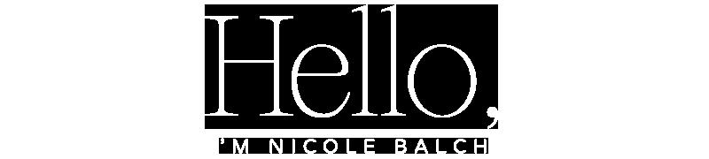 Hello, I'm Nicole.