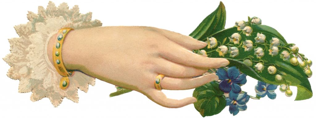 Victorian Hand with Lily of the Valley